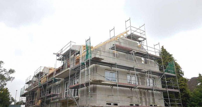 Sämtliche Wände wurden mit der Hilfe vom Betonwerk CEMEX mit C25/C30 F4 Beton verfüllt